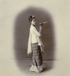 Burmese girl with cheroot